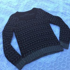 Rag & Bone Black Silver Metallic Sweater Small